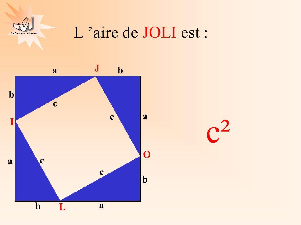 La Géométrie Autrement dans le même carré d une autre façon.