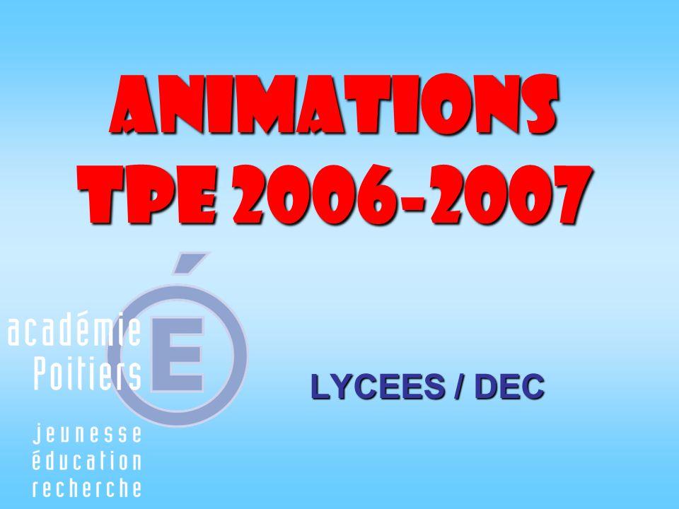 Exemple dun calendrier prévisionnel 2006 - 2007 25-29 septembreSemaine 1Présentation des TPE : buts – modalités – évaluations.