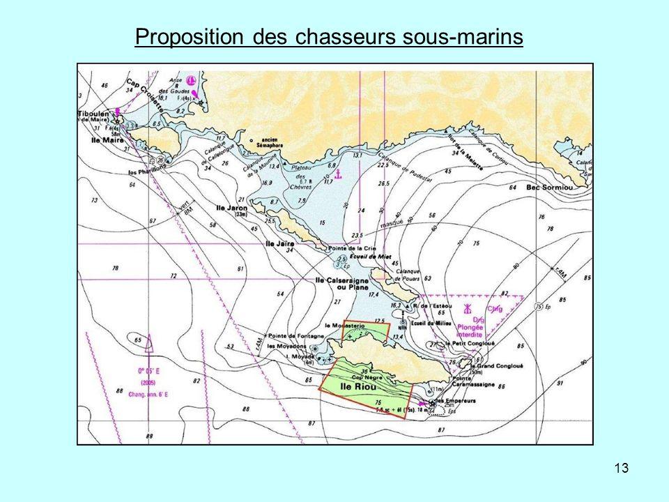 13 Proposition des chasseurs sous-marins
