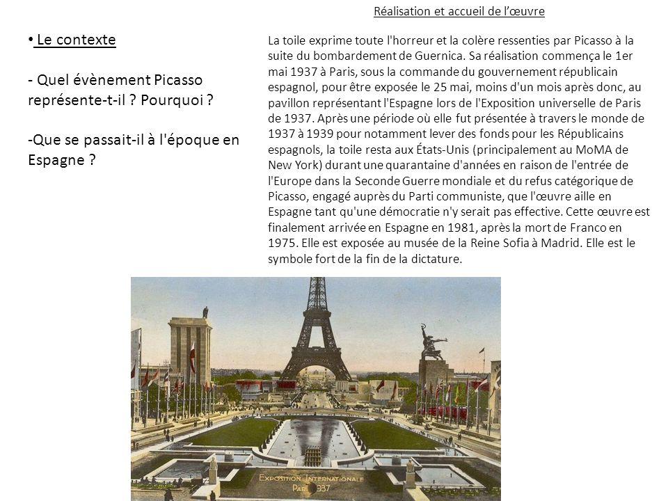 La guerre d Espagne et le bombardement de Guernica.