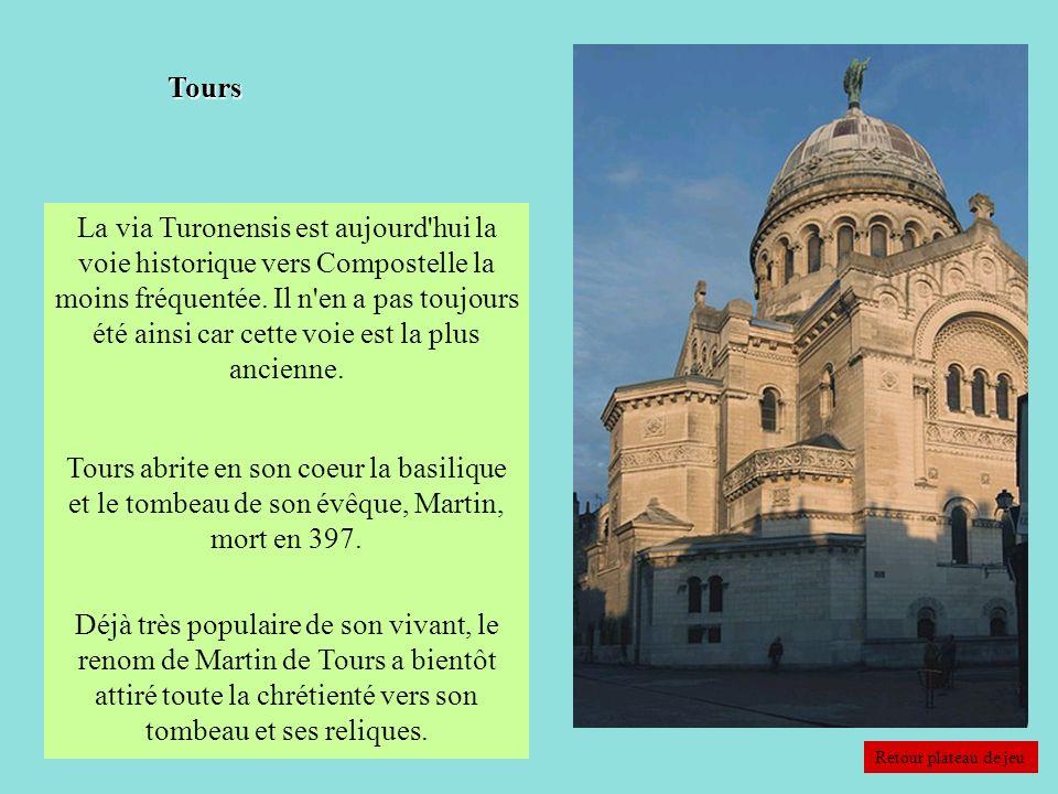 La via Turonensis est aujourd'hui la voie historique vers Compostelle la moins fréquentée. Il n'en a pas toujours été ainsi car cette voie est la plus