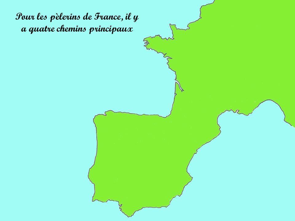 Pour les pèlerins de France, il y a quatre chemins principaux
