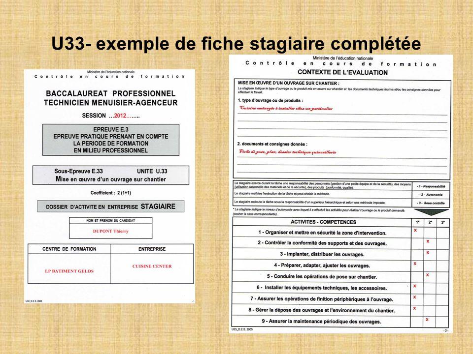 U33- exemple de fiche stagiaire complétée