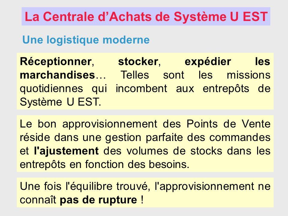La Centrale dAchats de Système U EST Une logistique moderne Réceptionner, stocker, expédier les marchandises… Telles sont les missions quotidiennes qu