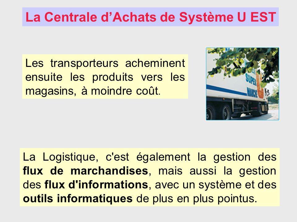 La Logistique, c'est également la gestion des flux de marchandises, mais aussi la gestion des flux d'informations, avec un système et des outils infor