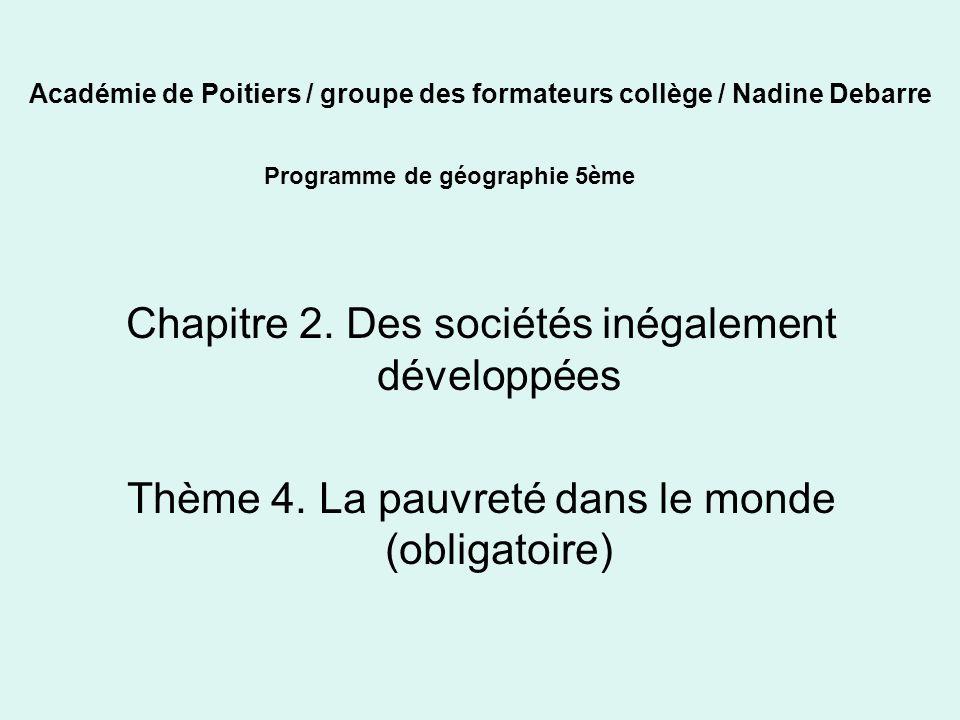Académie de Poitiers / groupe des formateurs collège / Nadine Debarre Chapitre 2.