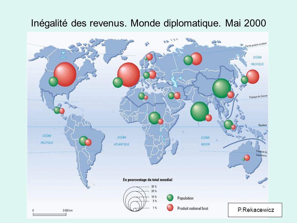 Inégalité des revenus. Monde diplomatique. Mai 2000 P.Rekacewicz