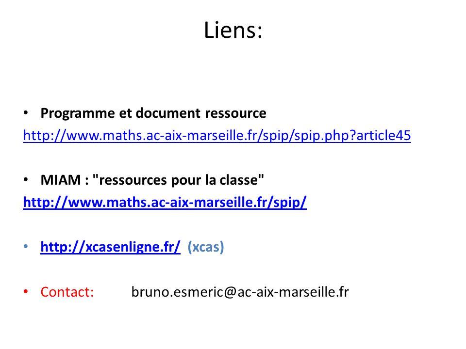 Liens: Programme et document ressource http://www.maths.ac-aix-marseille.fr/spip/spip.php?article45 MIAM :