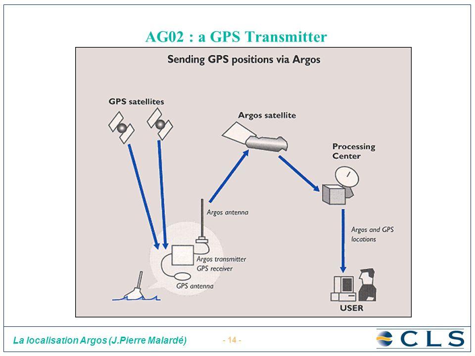 - 14 - La localisation Argos (J.Pierre Malardé) AG02 : a GPS Transmitter