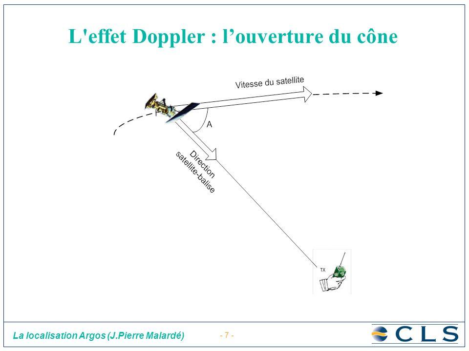 - 7 - La localisation Argos (J.Pierre Malardé) L'effet Doppler : louverture du cône