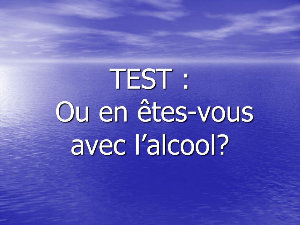 TEST : Ou en êtes-vous avec lalcool?