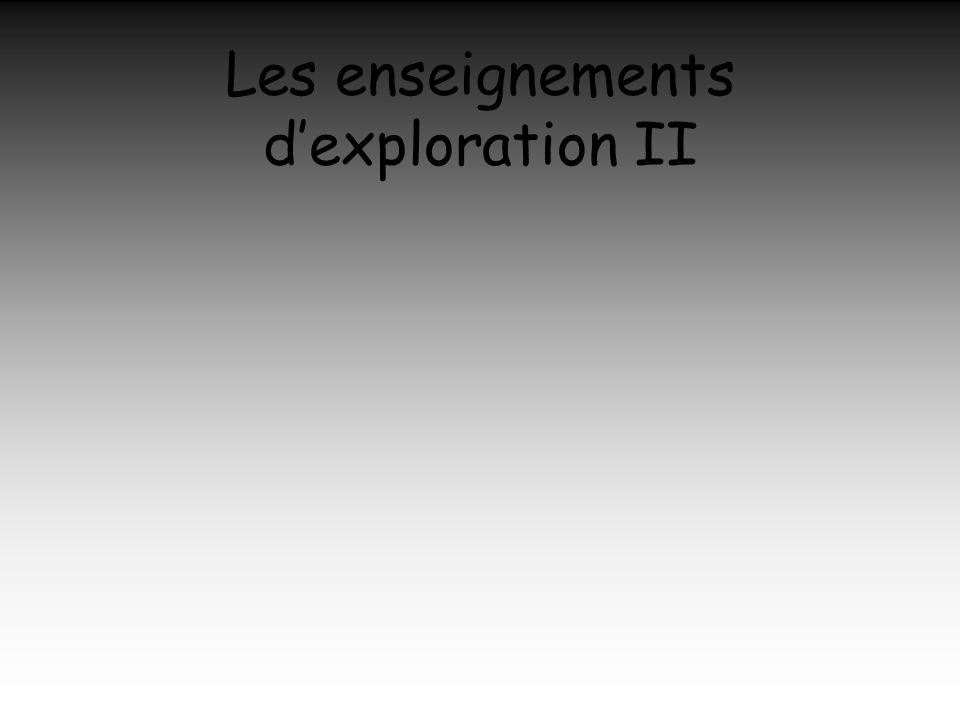 Les enseignements dexploration II