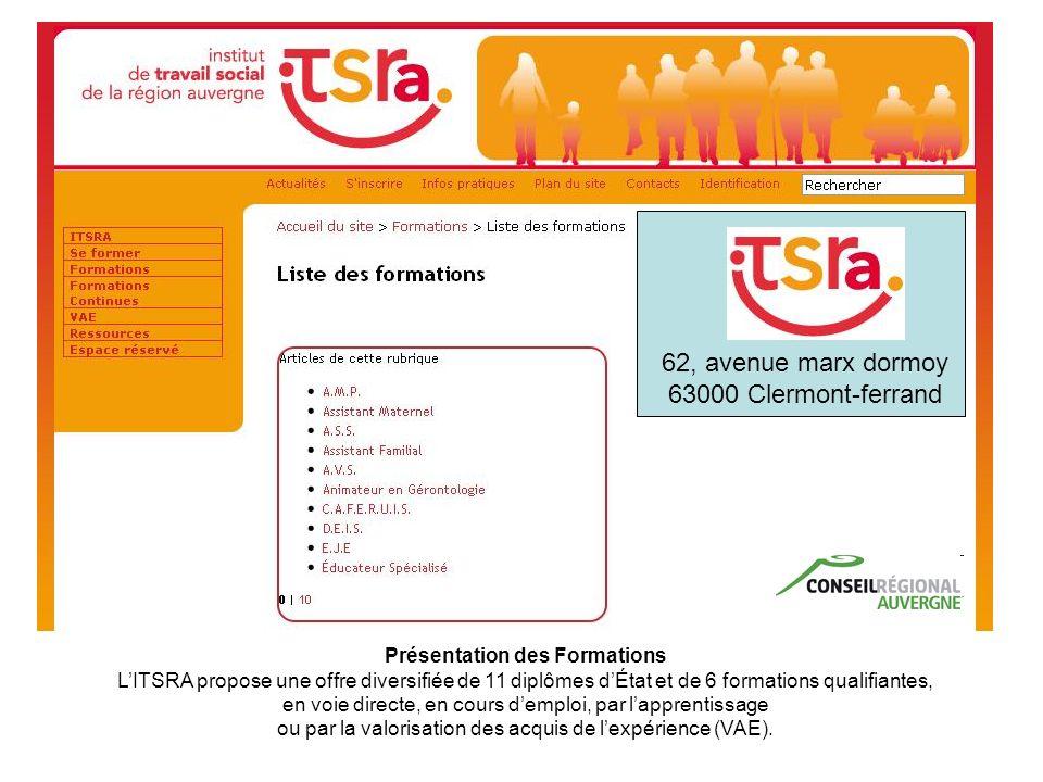 Présentation des Formations LITSRA propose une offre diversifiée de 11 diplômes dÉtat et de 6 formations qualifiantes, en voie directe, en cours dempl