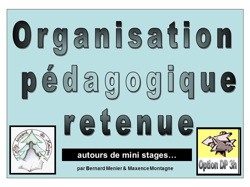autours de mini stages… par Bernard Menier & Maxence Montagne