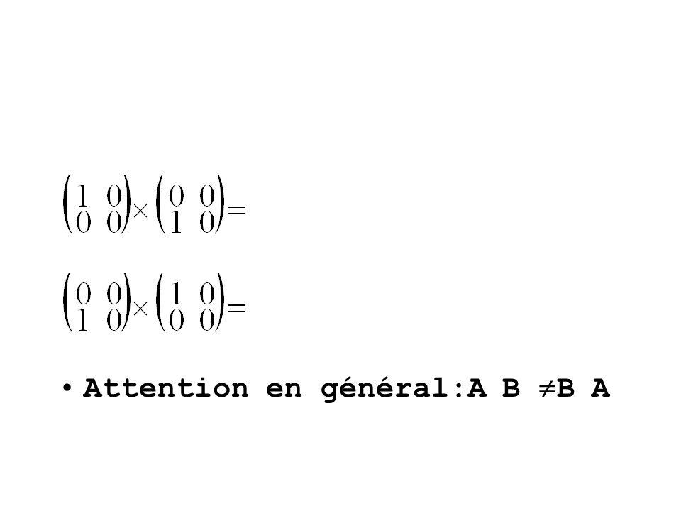Attention en général:A B B A