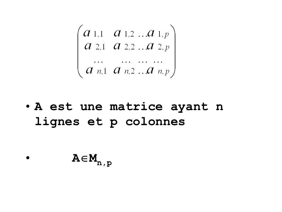 4)MULTIPLICATION DES MATRICES M n,p M p,q M n,q