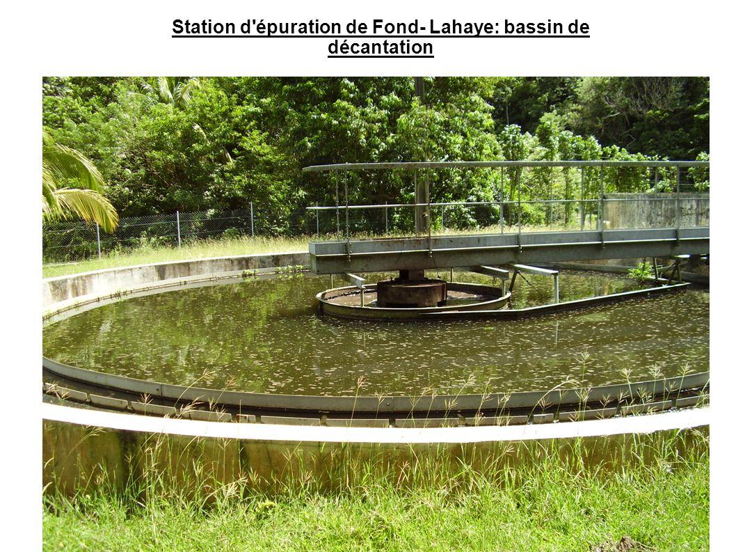 Station d'épuration de Fond- Lahaye: bassin de décantation