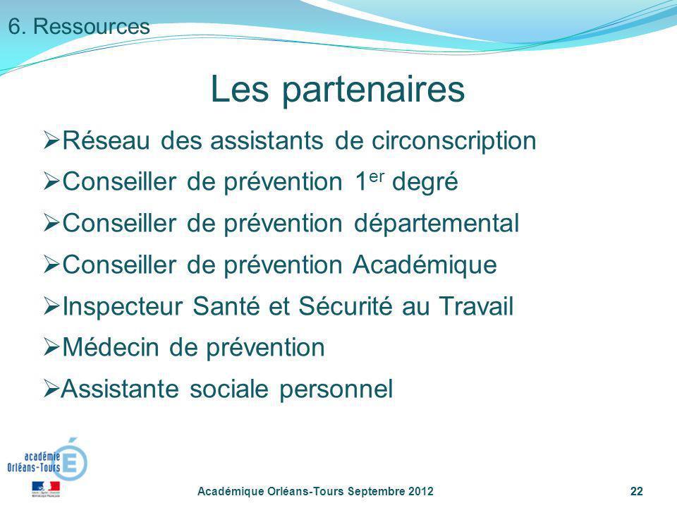 22 Réseau des assistants de circonscription Conseiller de prévention 1 er degré Conseiller de prévention départemental Conseiller de prévention Académ