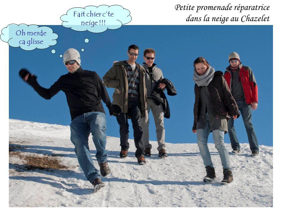 Petite promenade réparatrice dans la neige au Chazelet Fait chier cte neige !!! Oh merde ca glisse