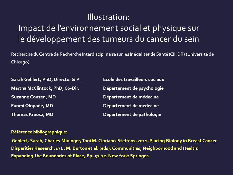 Illustration: Impact de lenvironnement social et physique sur le développement des tumeurs du cancer du sein Recherche du Centre de Recherche Interdis