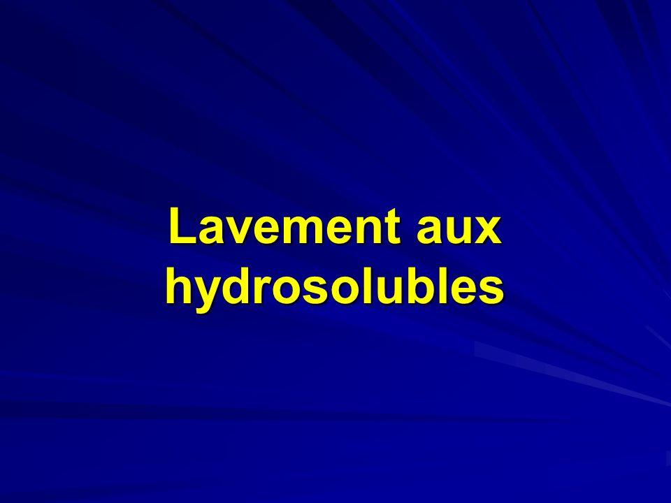 Lavement aux hydrosolubles
