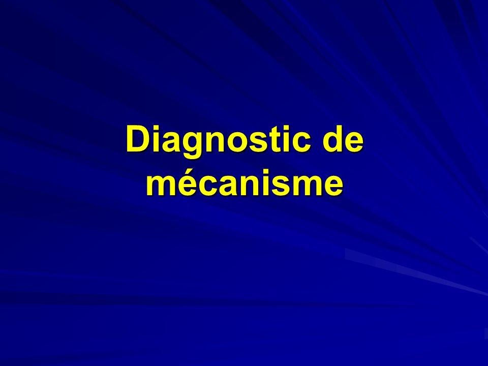 Diagnostic de mécanisme