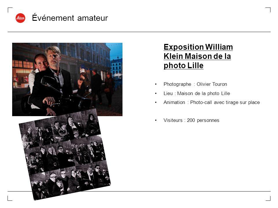 Événement amateur Exposition William Klein Maison de la photo Lille Photographe : Olivier Touron Lieu : Maison de la photo Lille Animation : Photo-cal