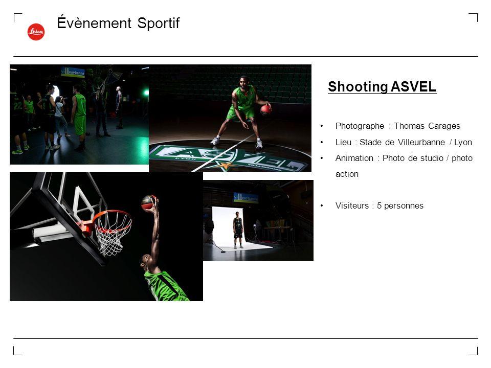 Évènement Sportif Shooting ASVEL Photographe : Thomas Carages Lieu : Stade de Villeurbanne / Lyon Animation : Photo de studio / photo action Visiteurs