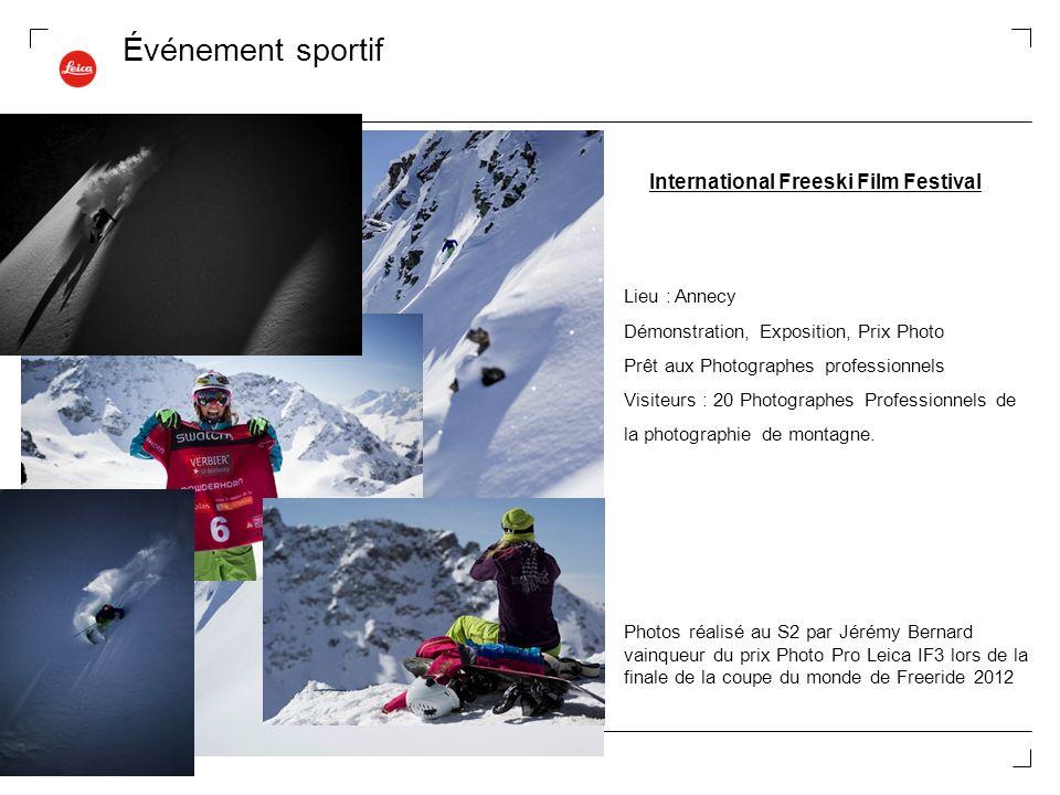 Événement sportif Lieu : Annecy Démonstration, Exposition, Prix Photo Prêt aux Photographes professionnels Visiteurs : 20 Photographes Professionnels