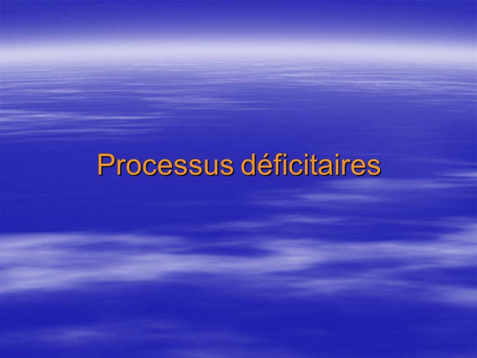 Processus déficitaires