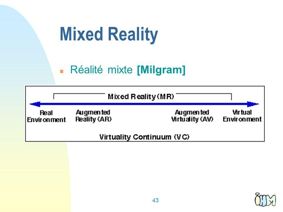 43 Mixed Reality n Réalité mixte [Milgram]