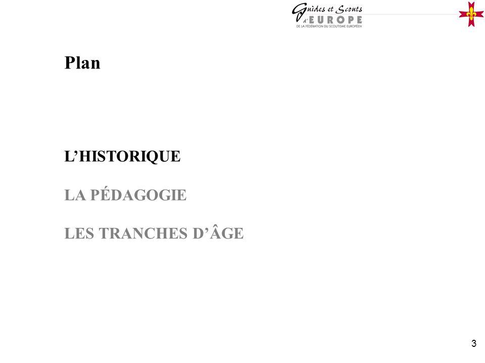 3 Plan LHISTORIQUE LA PÉDAGOGIE LES TRANCHES DÂGE