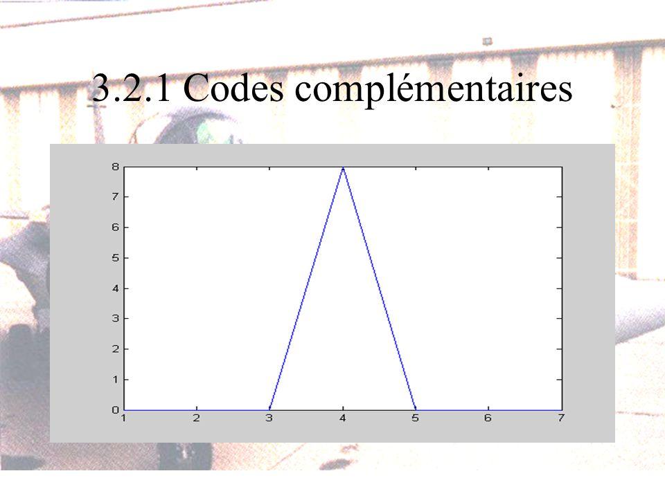3.2.1 Codes complémentaires