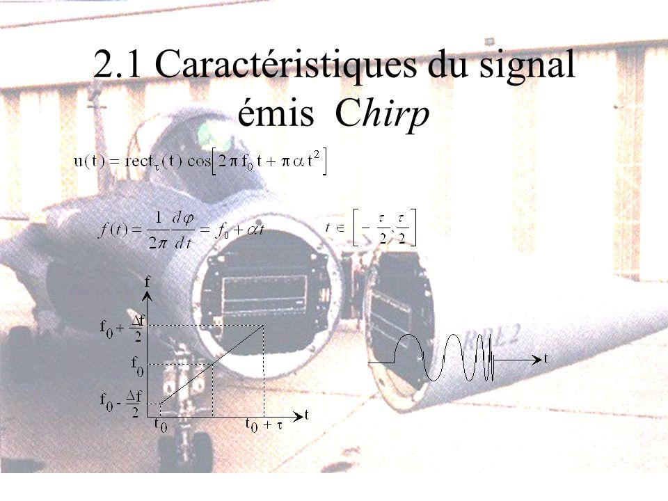 2.1 Caractéristiques du signal émis Chirp