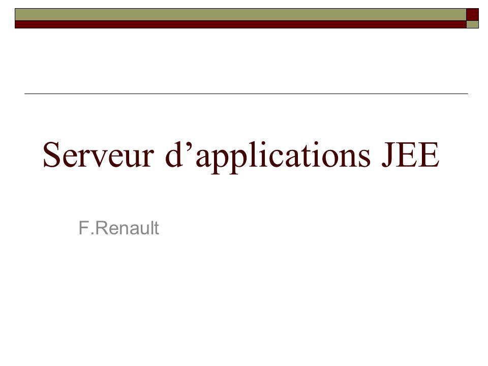 Serveur dapplications JEE F.Renault