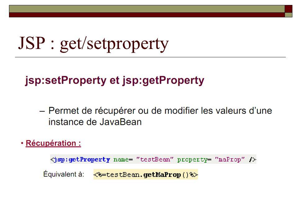 JSP : get/setproperty