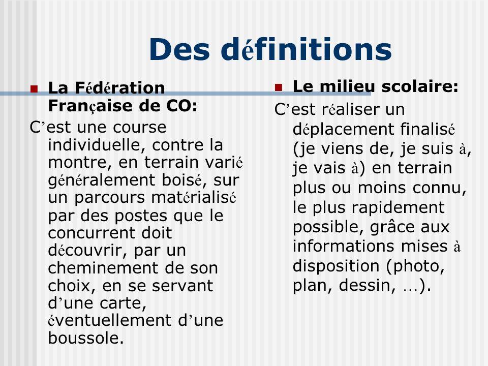 La d é finition d « apprendre en é ducation physique, cycle 1 » CRDP Nord- Pas de Calais C est d é terminer la position que l on occupe par rapport à des rep è res pour se d é placer selon un projet.