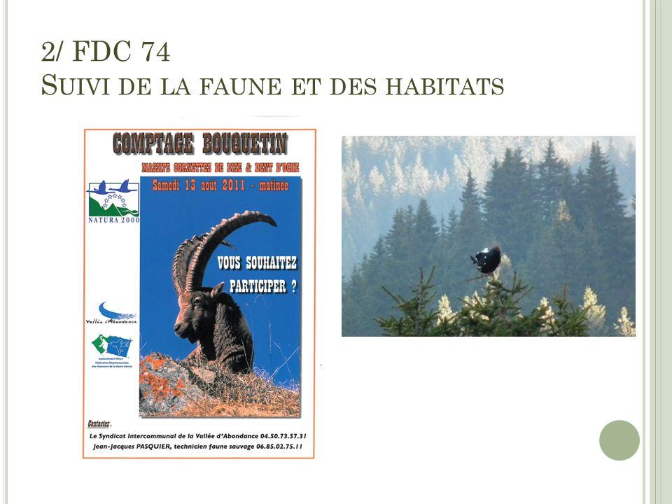 2/ FDC 74 S UIVI DE LA FAUNE ET DES HABITATS