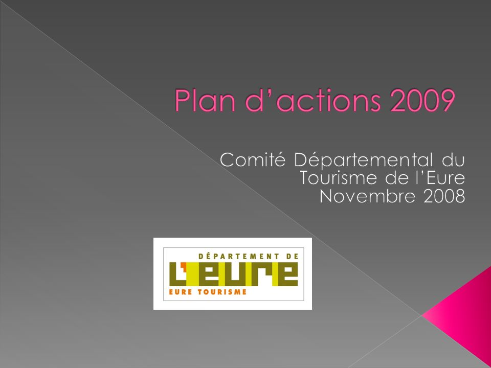 But Missions Moyens 2008 et 2009 11/11/2008 Guillaume Henry - CDT 27 2