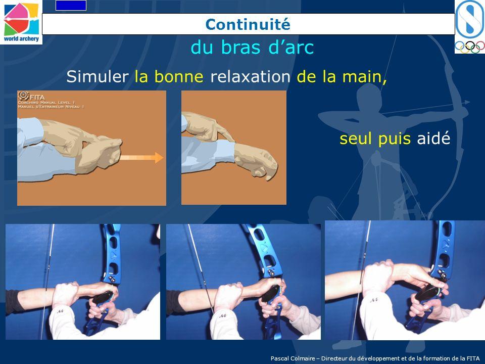 Continuité Simuler la bonne relaxation de la main, seul puis aidé du bras darc Pascal Colmaire – Directeur du développement et de la formation de la F
