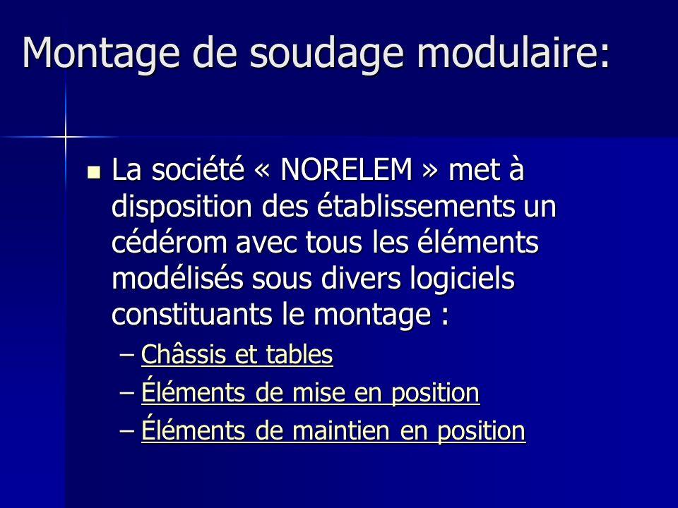 La société « NORELEM » met à disposition des établissements un cédérom avec tous les éléments modélisés sous divers logiciels constituants le montage