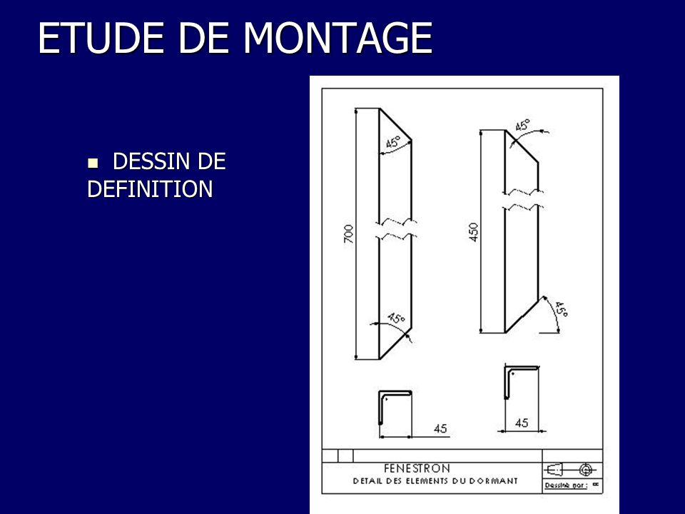 ETUDE DE MONTAGE DESSIN DE DESSIN DEDEFINITION