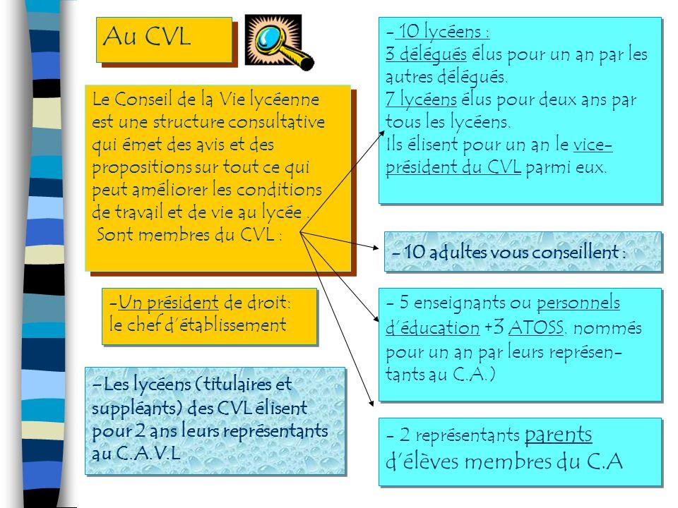 Le Conseil dadministration cest : Le Conseil dadministration cest : Le CA (suite) -Un organe délibératif de létablissement. - Il est présidé par le ch