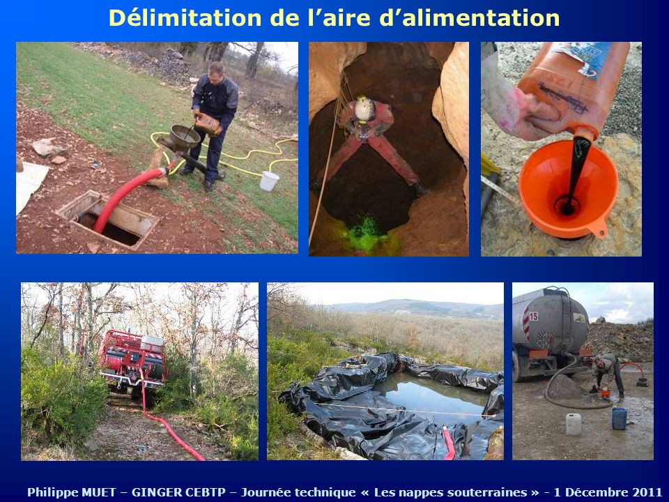 Délimitation de laire dalimentation Philippe MUET – GINGER CEBTP – Journée technique « Les nappes souterraines » - 1 Décembre 2011