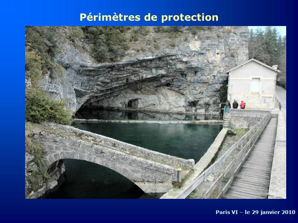 Périmètres de protection Paris VI – le 29 janvier 2010