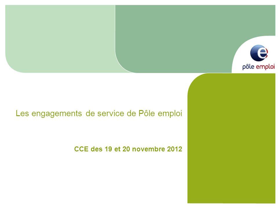 Les engagements de service de Pôle emploi CCE des 19 et 20 novembre 2012