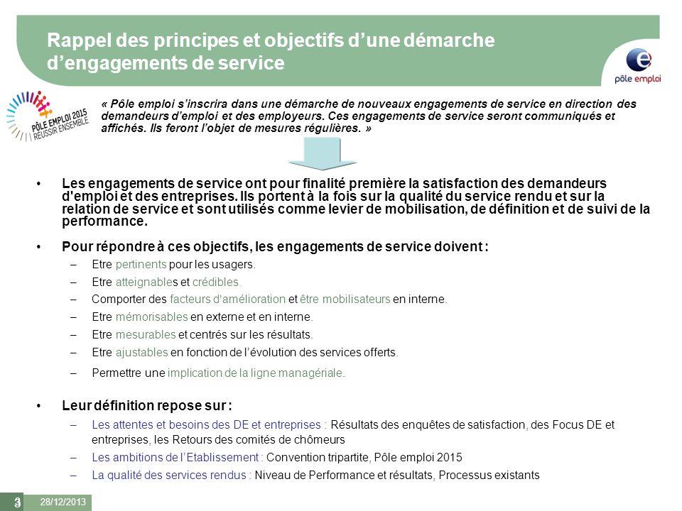 3 Rappel des principes et objectifs dune démarche dengagements de service Les engagements de service ont pour finalité première la satisfaction des de