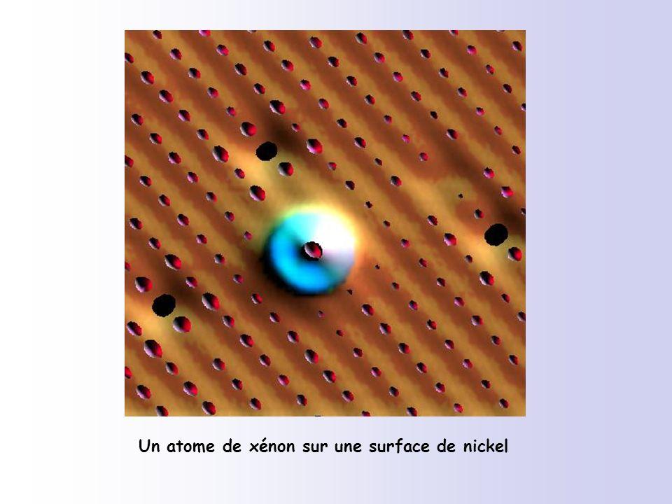 Un atome de xénon sur une surface de nickel