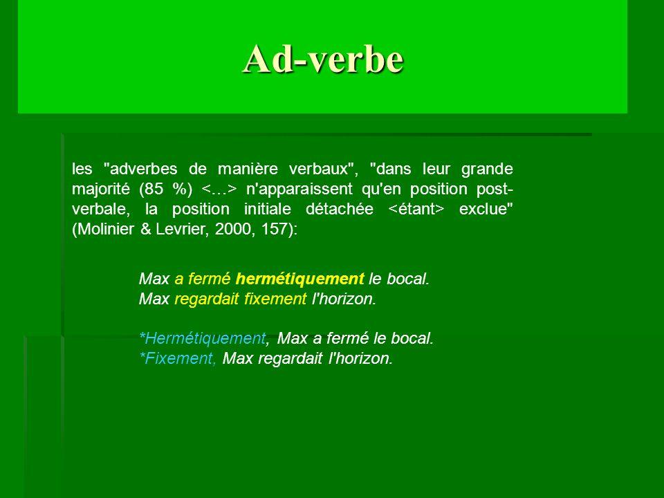 Ad-verbe les