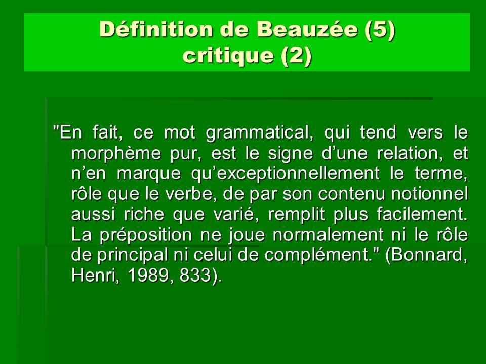 Définition de Beauzée (5) critique (2)